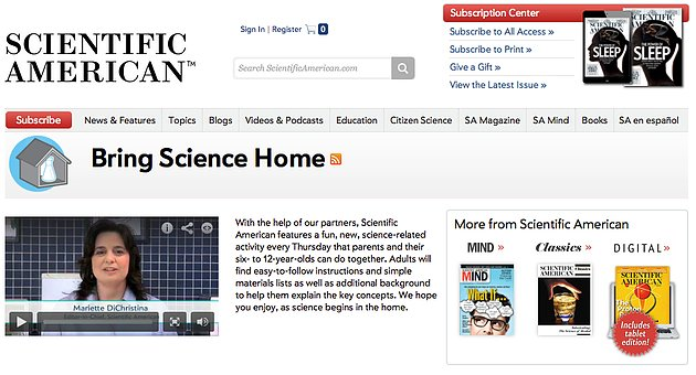 Science for the home as well as the school